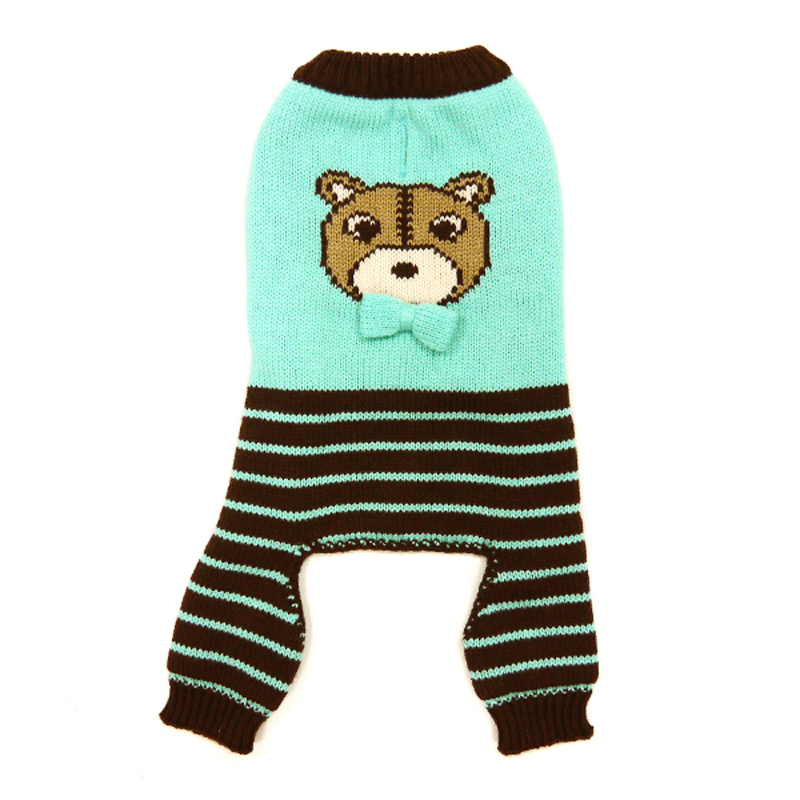 Bear Sweater Dog Jumper by Dogo - Blue