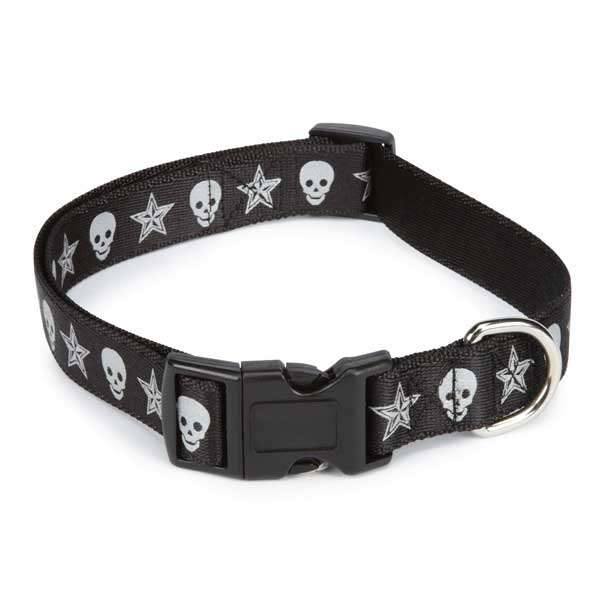 Casual Canine Outlaw Dog Collar -Black