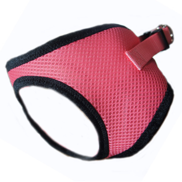 Choke-Free Mesh Step-In Dog Harness - Salmon Rose