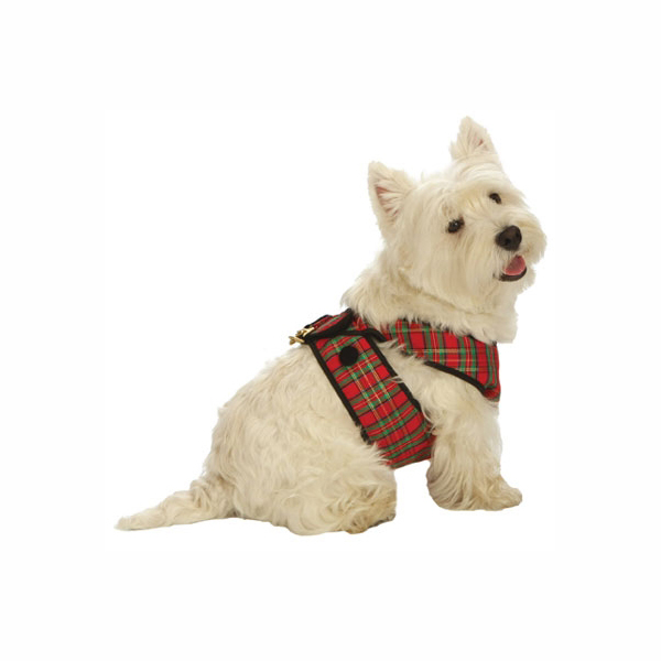 Cloak & Dawggie Tartan Step-N-Go Harness with Velvet Trim