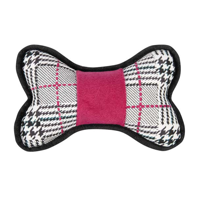 Grriggles Heritage Bones Dog Toy - Plaid