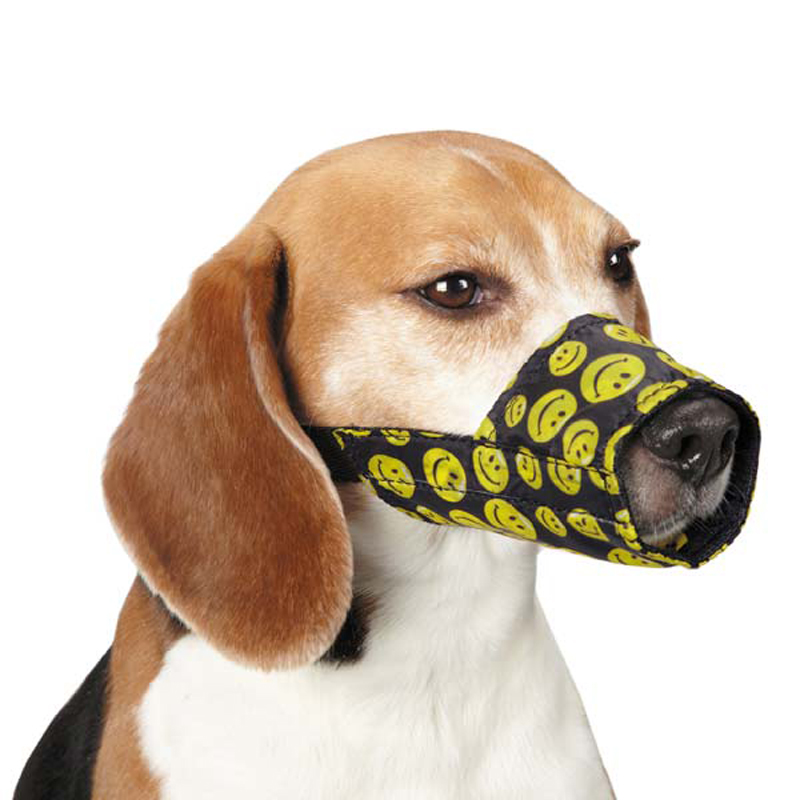 Guardian Gear Lined Printed Dog Muzzle - Smile