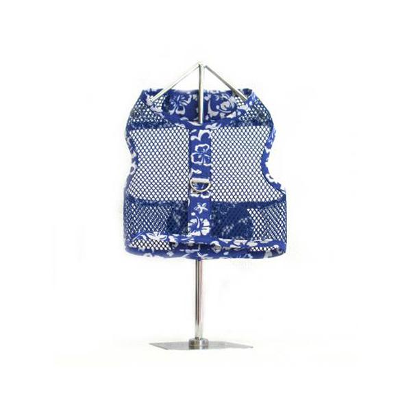 Hawaiian Netted Dog Harness w/ Leash - Blue