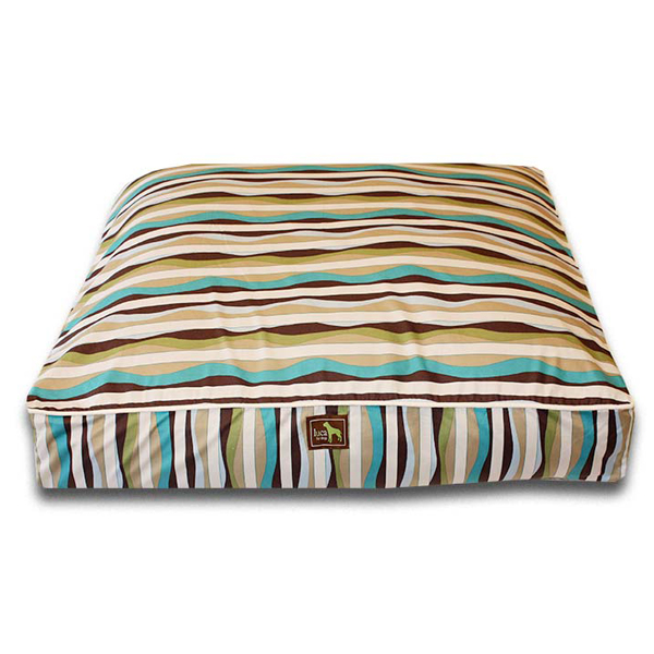 Luca Luxe Rectangle Dog Bed - Waves