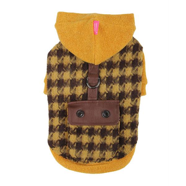 Paramount Dog Hoodie by Pinkaholic - Mustard