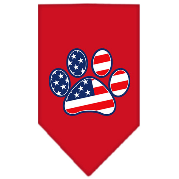 Patriotic Paw Dog Bandana - Red