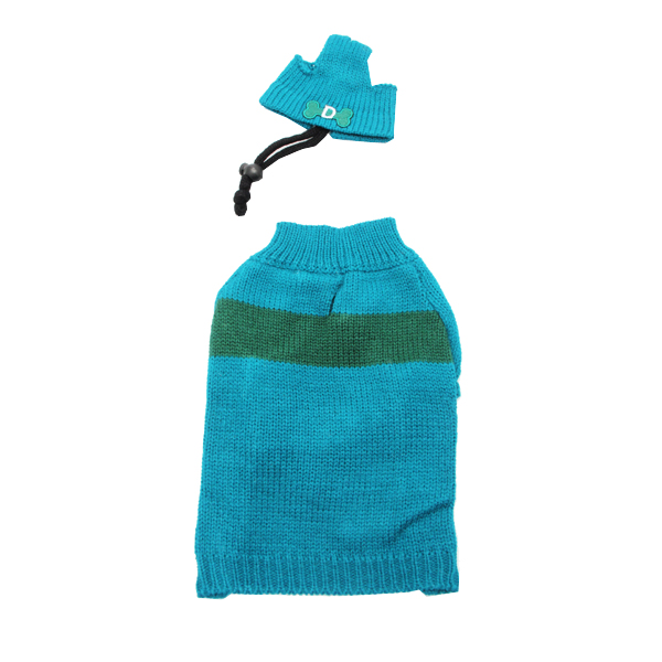 Ski Dog Sweater by Dogo - Blue & Green