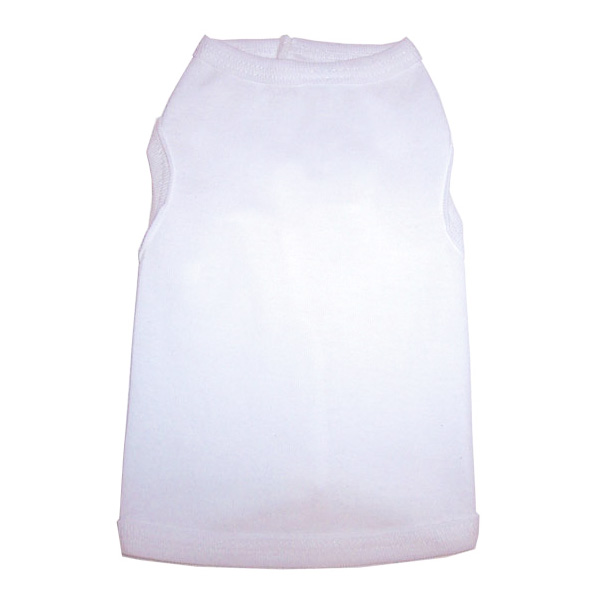 White Doggy Tank Top
