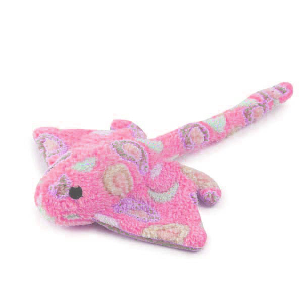 Zanies Sea Charmers Dog Toy - Pink Sting Ray