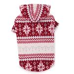 Snowdrift Cuddler Fleece Dog Hoodie - Red