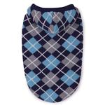 East Side Collection Hooded Argyle Dog Sweater - Navy
