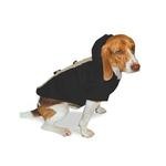 View Image 2 of Furry Toggle Dog Coat by Dogo - Black