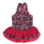 Retro Paisley Ruffled Dog Dress