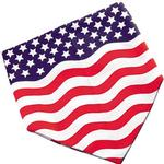 View Image 2 of Stars and Stripes Patriotic Dog Bandana