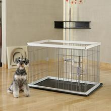 2 Way Door Pet Pen with Floor Tray - Origami White/Black