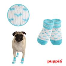 Angel Heart Dog Socks by Puppia - Blue