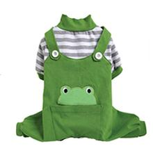 Animal Overalls Dog Pajamas - Frog