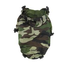 Army Camo Dog Raincoat by Dogo - Green