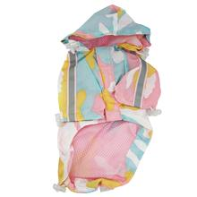 Army Camo Dog Raincoat by Dogo - Pink