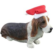 Basset Hound Christmas Ornament - Facing Forward