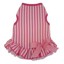 Candy Striper Dog Dress