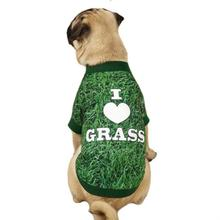 Photo Real Dog T-Shirt - Grass