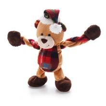 Christmas Bear Pulleez Dog Toy