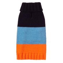 Color Block Dog Sweater by Fab Dog - Navy, Blue and Orange