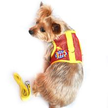 Cool Mesh Velcro Dog Harness - Sunset Submarine Red & Yellow