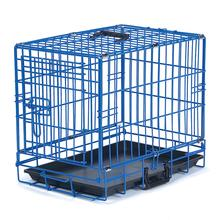 Crate Appeal Collapsible Wire Dog Crate - Blue Splash