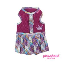 Dainty Flirt Dog Harness Dress by Pinkaholic - Purple