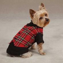 East Side Collection Holiday Tartan Dog Vest Shirt