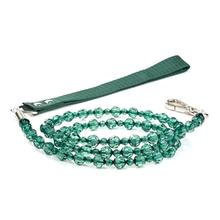 FabuLeash Beaded Dog Leash - Emerald