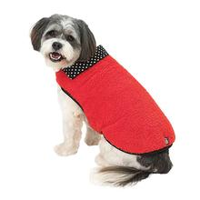 Fido's Fuzzy Fleece Dog Vest - Red
