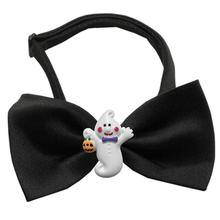 Ghost Halloween Chipper Dog Bow Tie