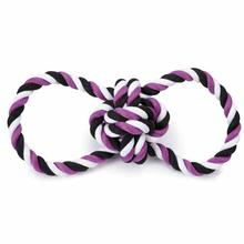 Grriggles Knot Tugs Dog Toy - Purple