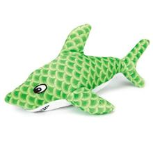 Grriggles Sizzle Shark Dog Toy - Green