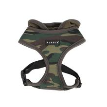Hunter Hooded Dog Harness by Puppia - Green Camo