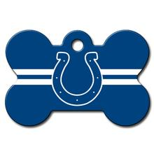 Indianapolis Colts Engravable Pet I.D. Tag - Bone