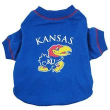 Kansas Jayhawks Dog T-Shirt - Blue