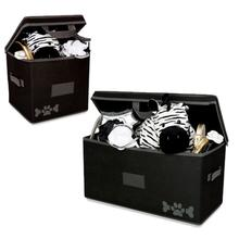 Lazybonezz Dog Toy Box - Black