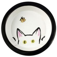 Melia Cat Peek Ceramic Bowl - White