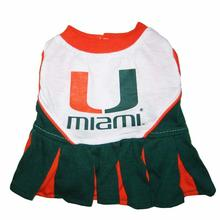 Miami Hurricanes Cheerleader Dog Dress