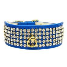 Mirage Crystal Dog Collar - Blue