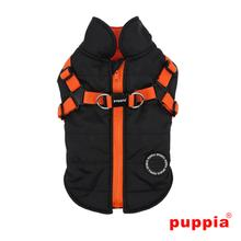 Mountaineer Dog Coat by Puppia - Black
