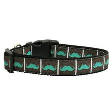 Moustache Dog Collar - Aqua