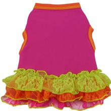 Neon Geo Lace Dog Dress