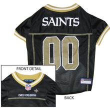 New Orleans Saints Officially Licensed Dog Jersey - Gold Trim