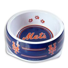New York Mets Plastic Dog Bowl