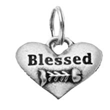 Pewter Cat Collar Charm: Blessed Fishbone Charm